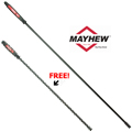 Mayhew Tools MAY-40162P 58-C Dominator 58 in. Curved Screwdriver Pry Bar + FREE 48 in. Pry Bar