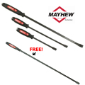 Mayhew Tools MAY-61355P 3 pc. Dominator Curved Screwdriver Pry Bar Set + FREE 36-C Dominator 36 in. Curved Screwdriver