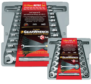 GearWrench KDT-9412P 12 Piece Standard Metric Combination Ratcheting Wrench Set + FREE 8 Piece SAE Wrench Set